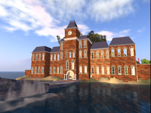 The Ada Lovelace Library, modeled on University Hall at The Ohio State University