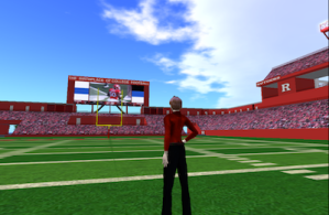 Rutgers football stadium in OpenSim
