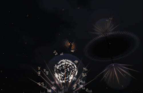 Dancing in the dark with a dandelion