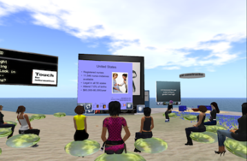 student presentation in SL