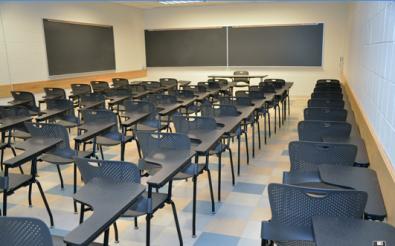 basement classroom (ugh)